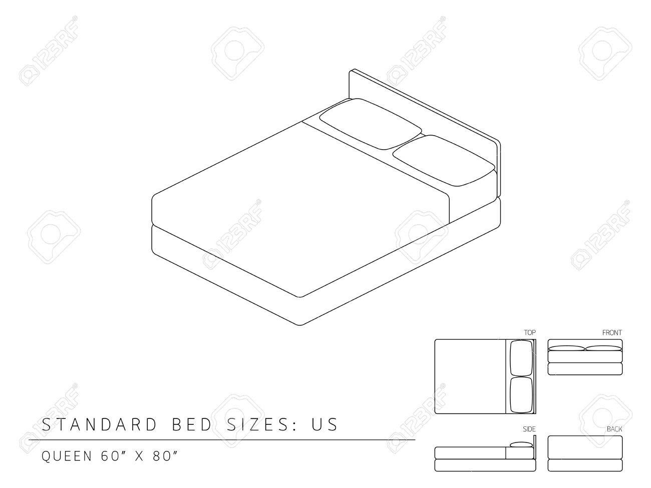 Standard Queen Size Bed Dimension Standard Bed Sizes Of Us United States Of America Queen Size