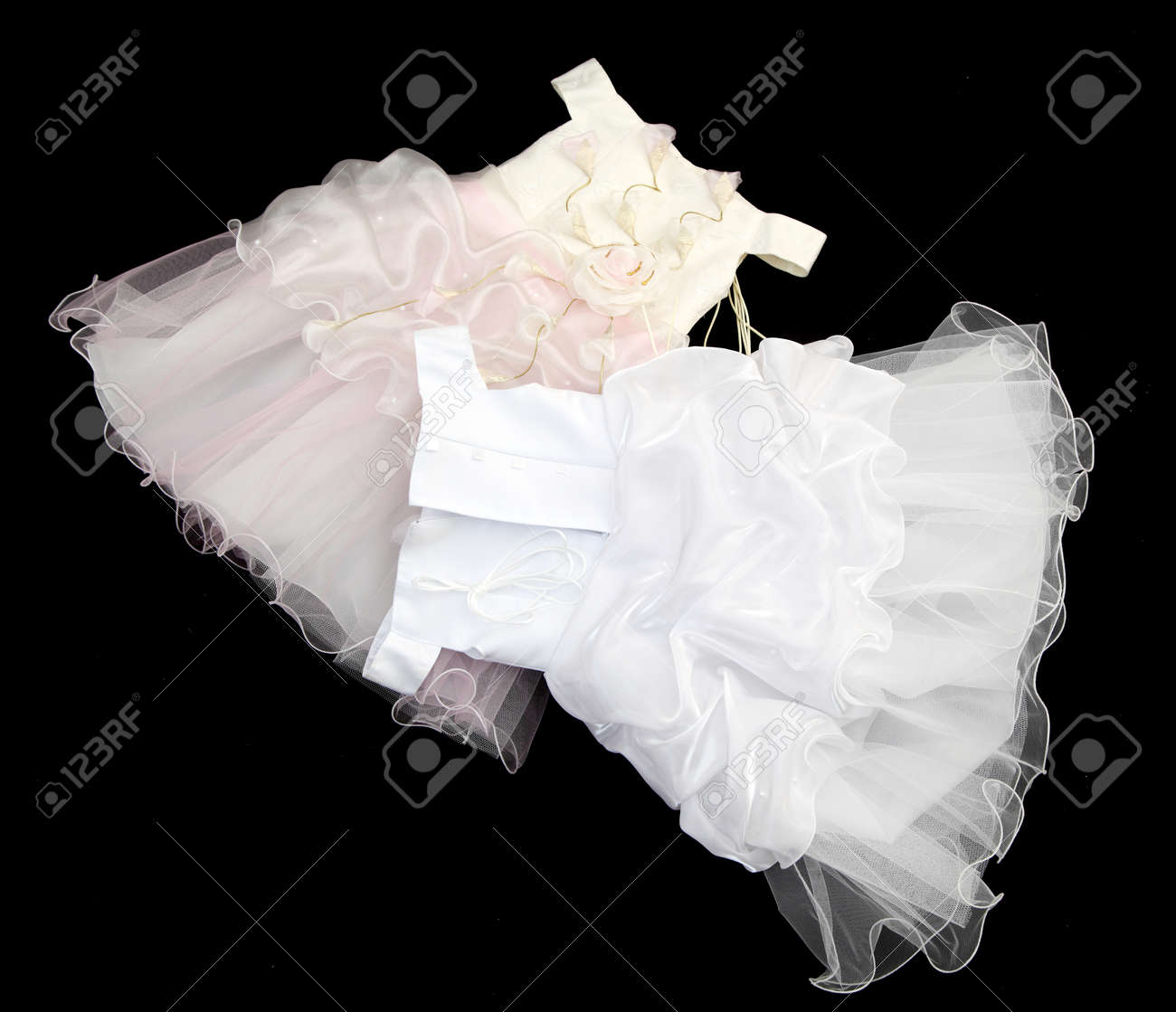 Baby Kleid Weiß Stock Photo