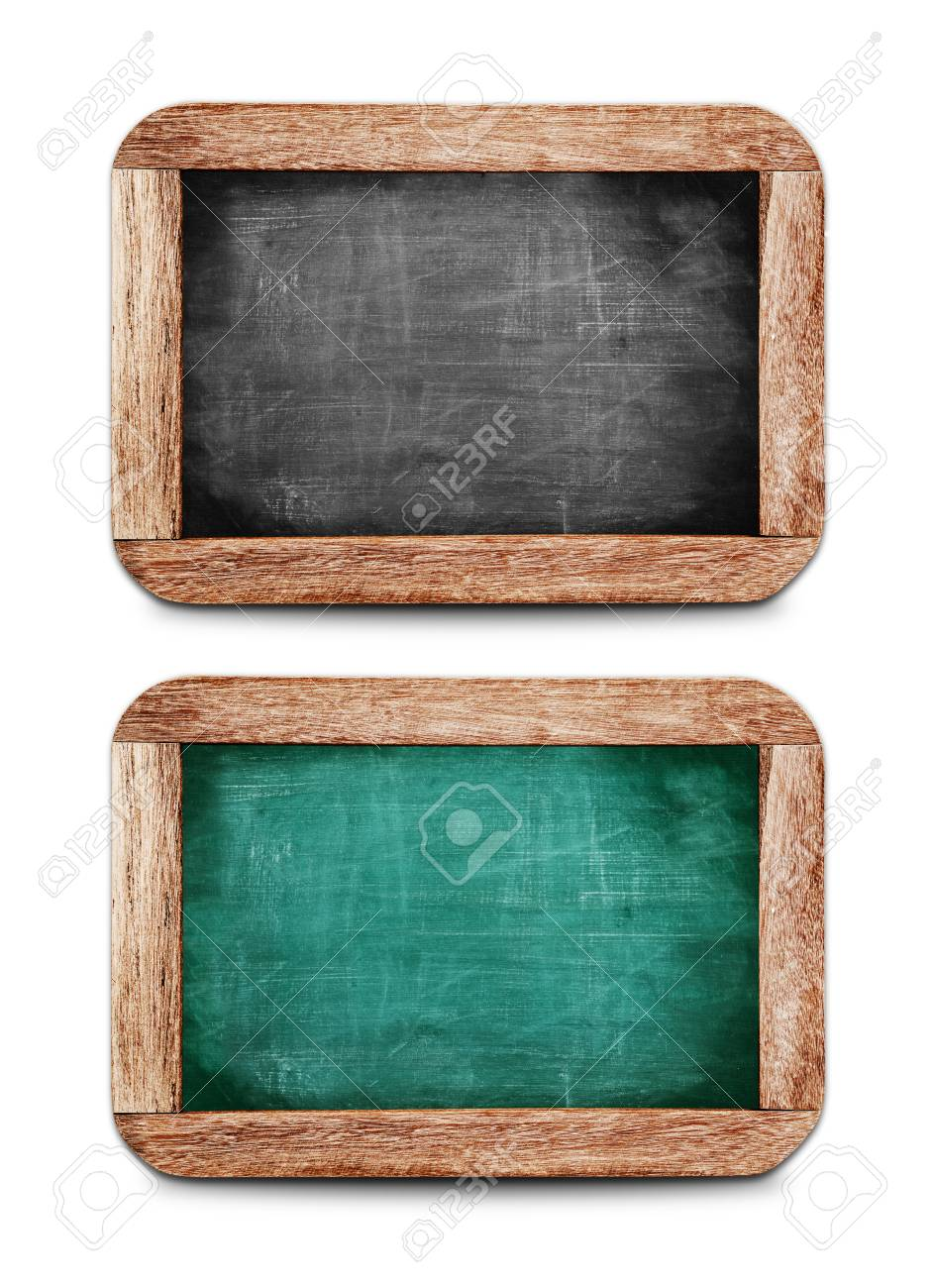 Kleine Schoolbordjes Vintage Small Chalkboards Set On White Background