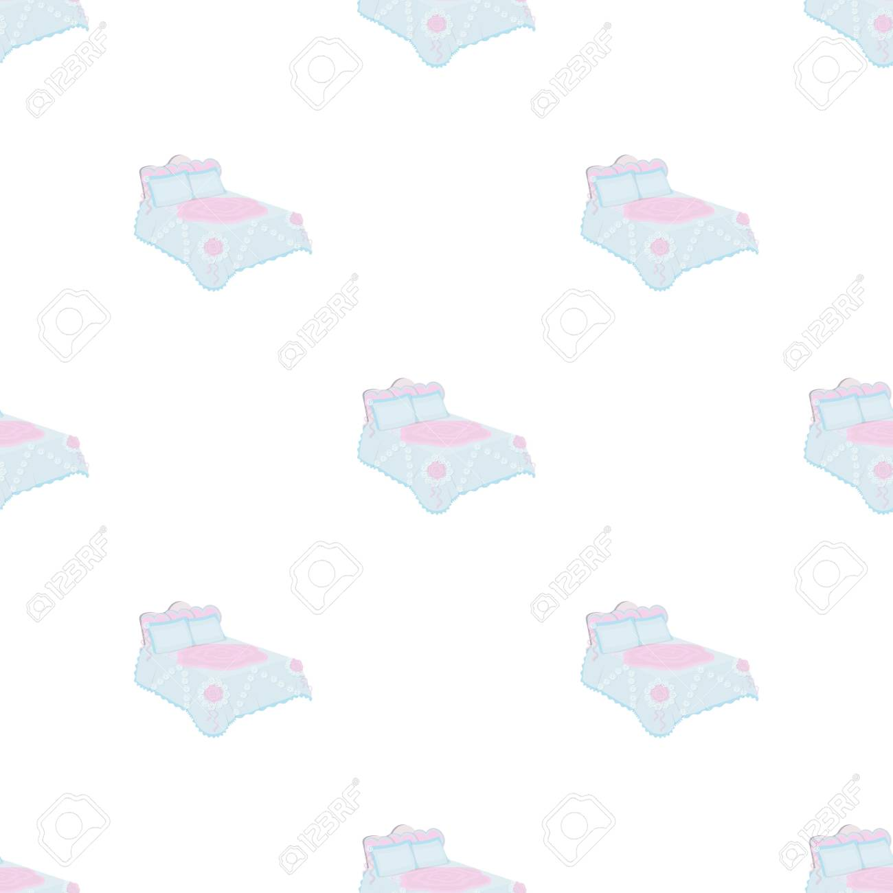Single Coverlet Stock Illustration