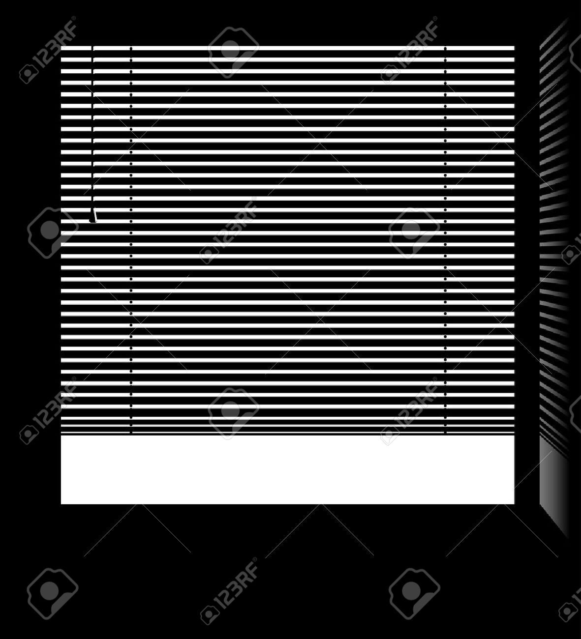 Fenster Jalousie Stock Photo