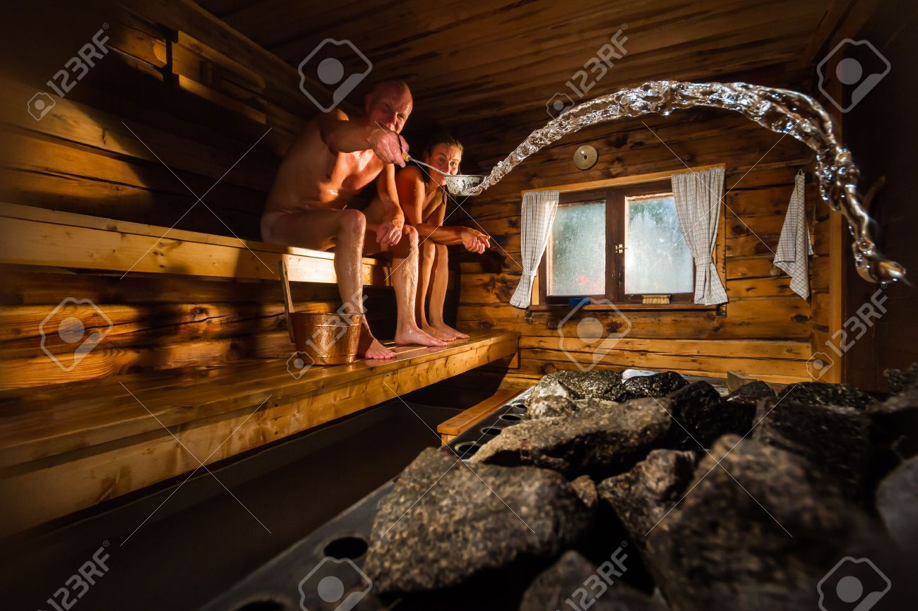 Finnland Sauna Stock Photo