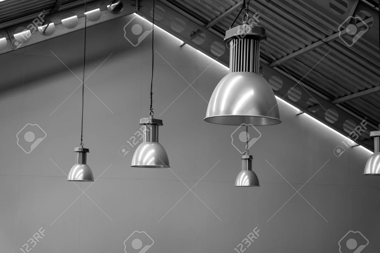 Lampe Silber Stock Photo