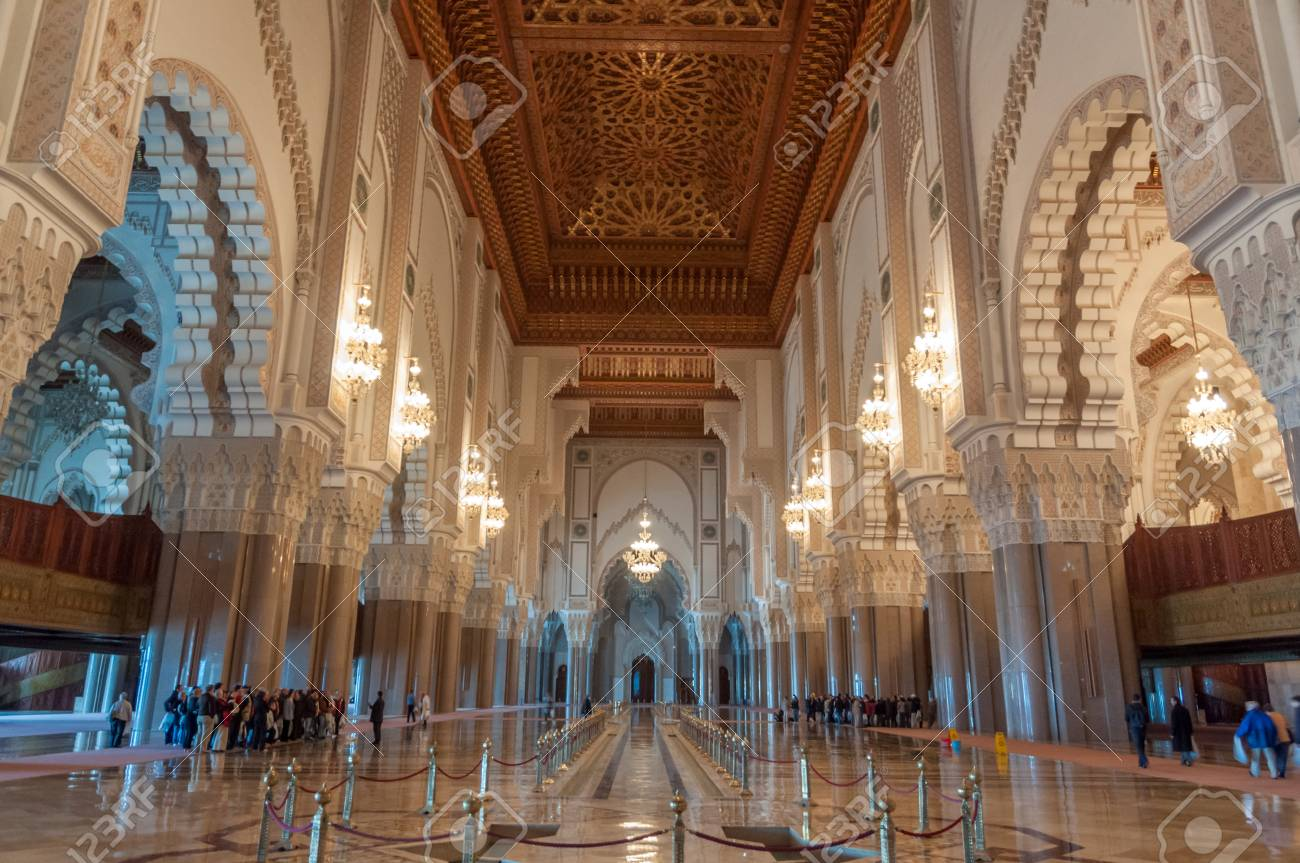 Architecture D'intérieur A Casablanca Interior Of The Famous Hassan Ii Mosque In Casablanca Morocco