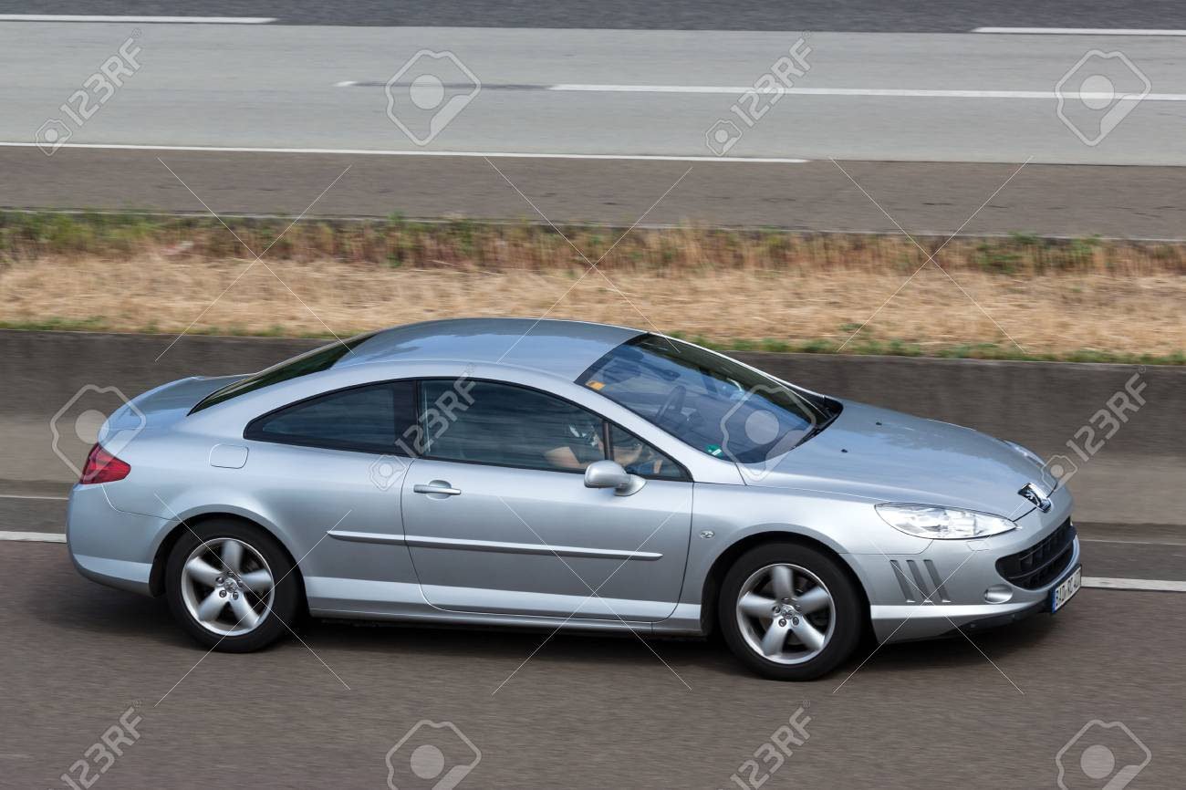 Coupe Peugeot Frankfurt Germany July 26 Peugeot 407 Coupe Moving Fast On