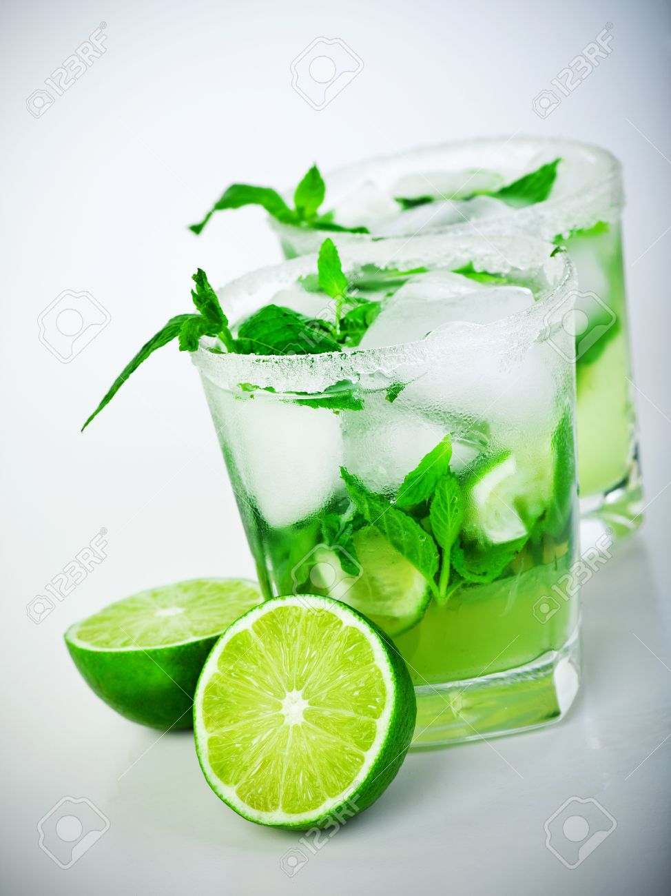 Mojito Glas Cold Mojito Drink Glass Of Icy Alcohol Refreshing Booze Tasty