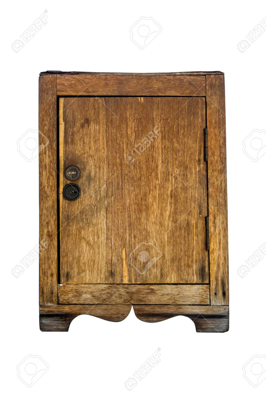 Holzschrank Weiß Stock Photo