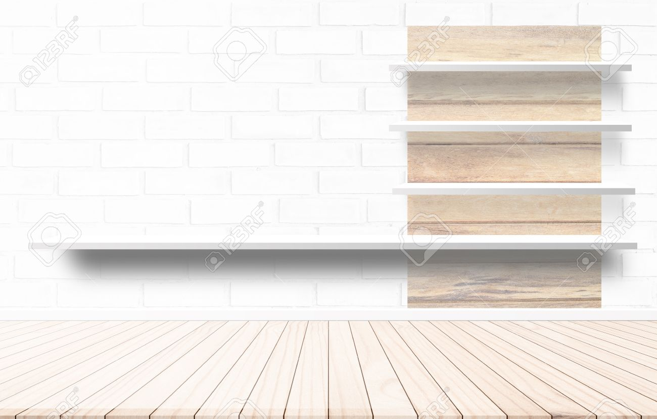 Shelf Design Ideas Wood Terrace With A Background Cement Wall Shelf Design Ideas