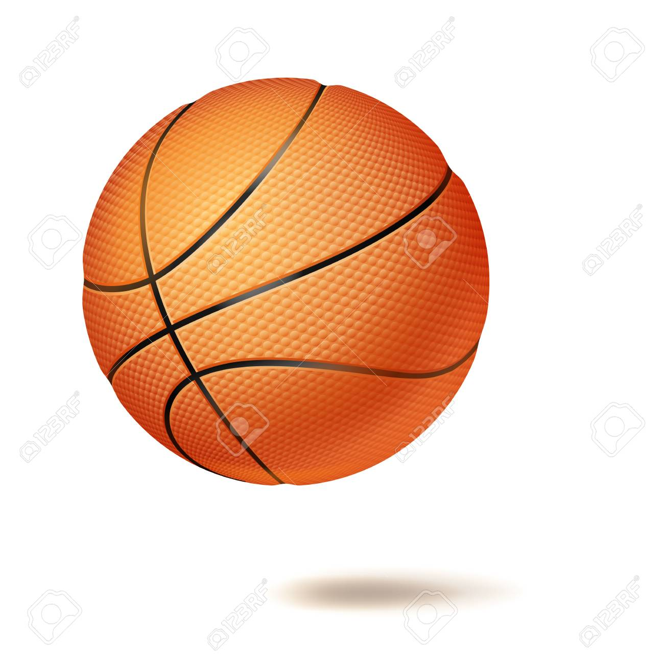 Basketball Ball 3d Basketball Ball Vector Classic Orange Ball Illustration