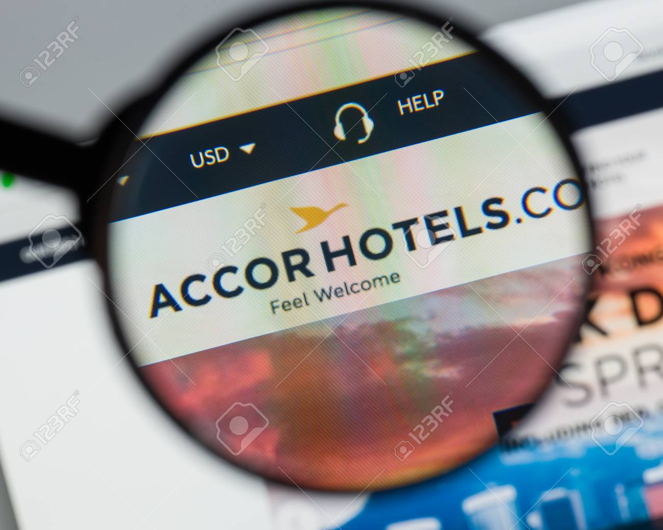 Accor Group Milan Italy August 10 2017 Accor Website Homepage It Is