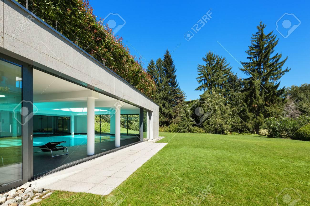 Extérieur Maison Moderne | Extérieur Maison Moderne Avec Piscine