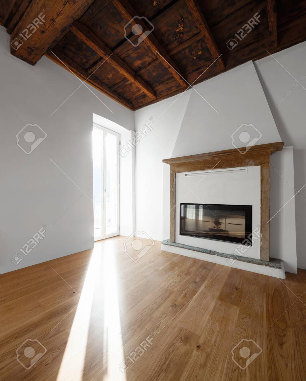 Fireplace Beams Living Room With Windows Overlooking The Lake Fireplace Renovated