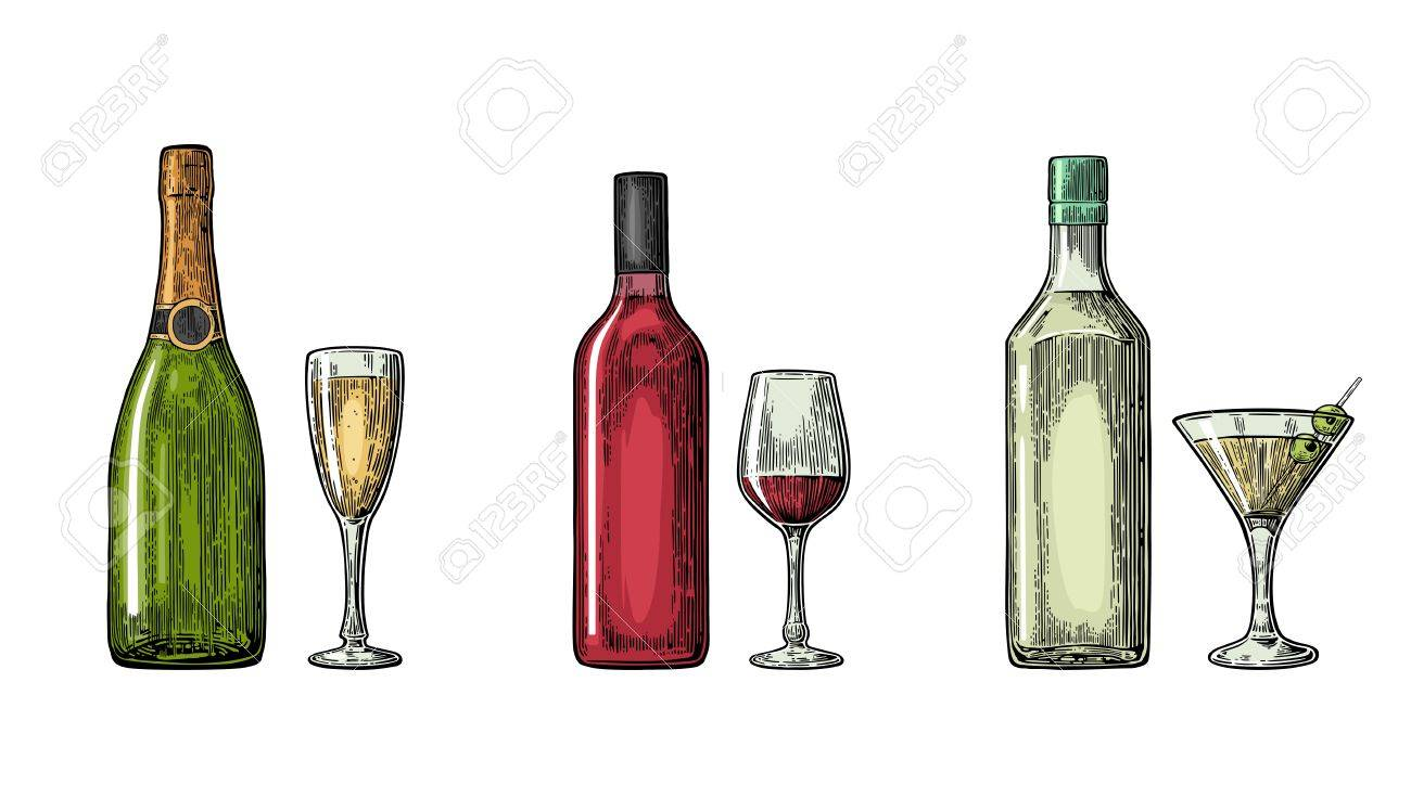 Spirituosen Wein Stock Photo