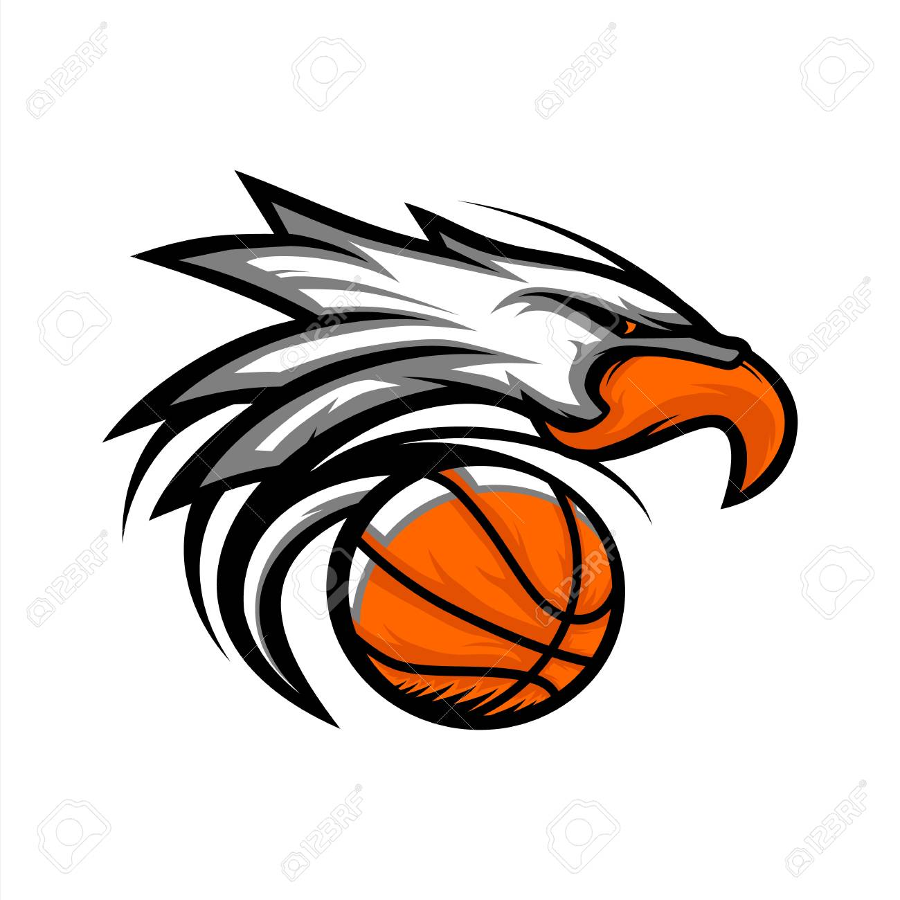 Basketball Ball Eagle Basketball Ball Logo