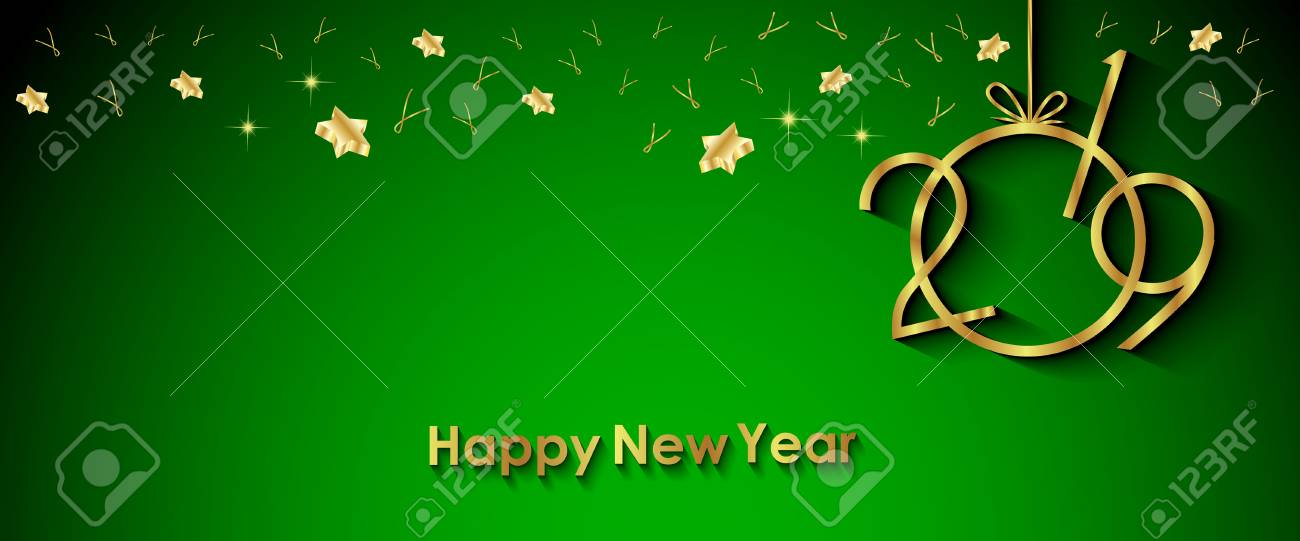 2019 Happy New Year Background For Your Invitations, Festive