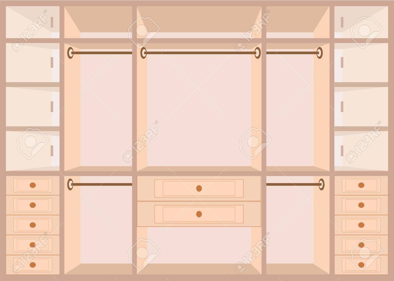 Flacher Kleiderschrank Stock Photo