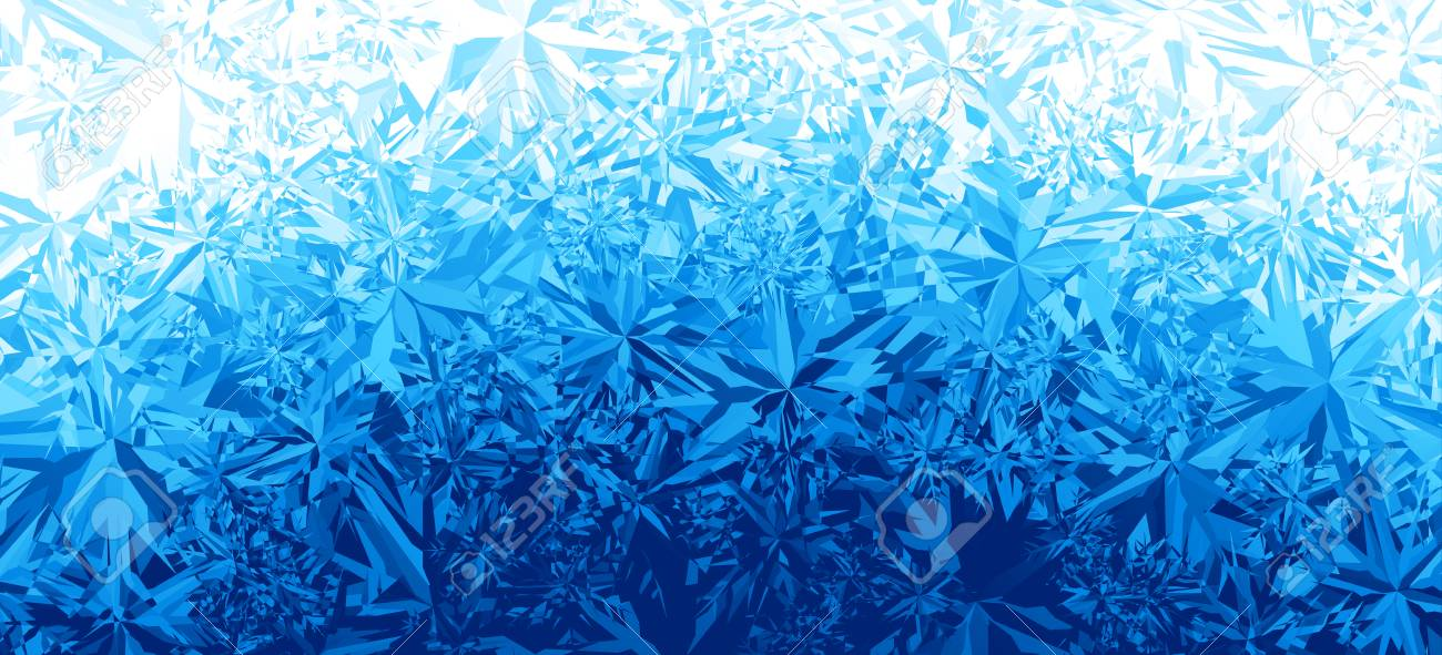 Winter Blue Ice Frost Background Royalty Free Cliparts, Vectors, And