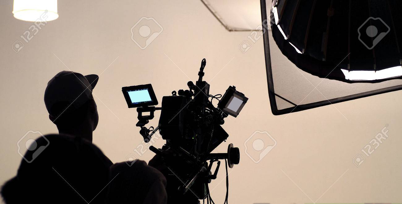 Tv Studio Verlichting Behind The Scene Of Tv Movie Video Film Shooting Production Crew