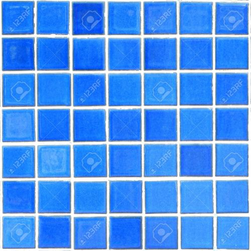 Medium Of Blue Mosaic Tile