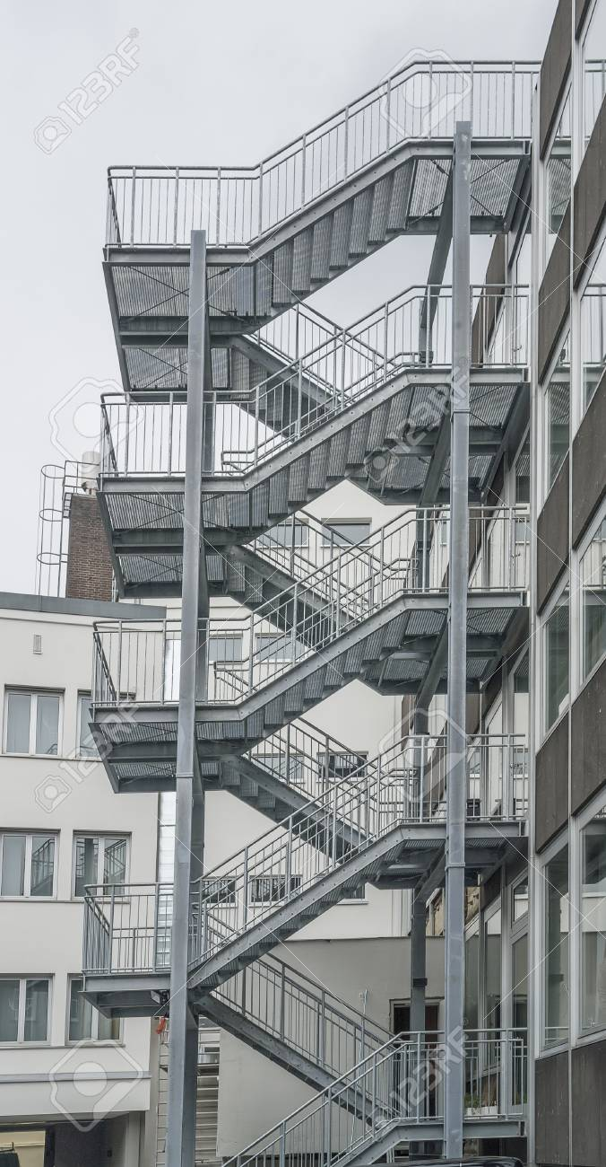 Metalltreppe Fulda Stock Photo