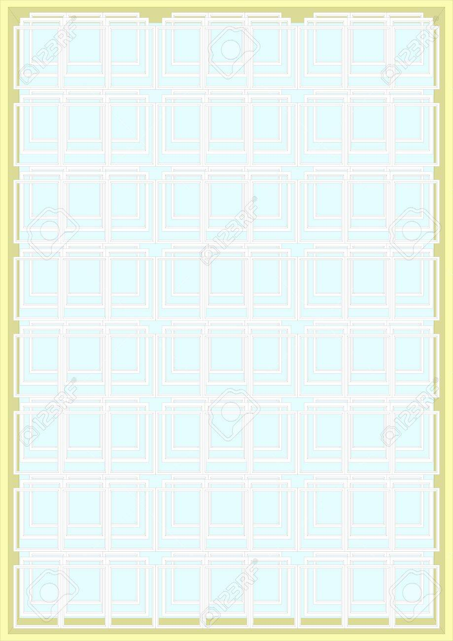 Large Frame Mat Large Number Of Small Frames In A Large Frame On A Light Blue