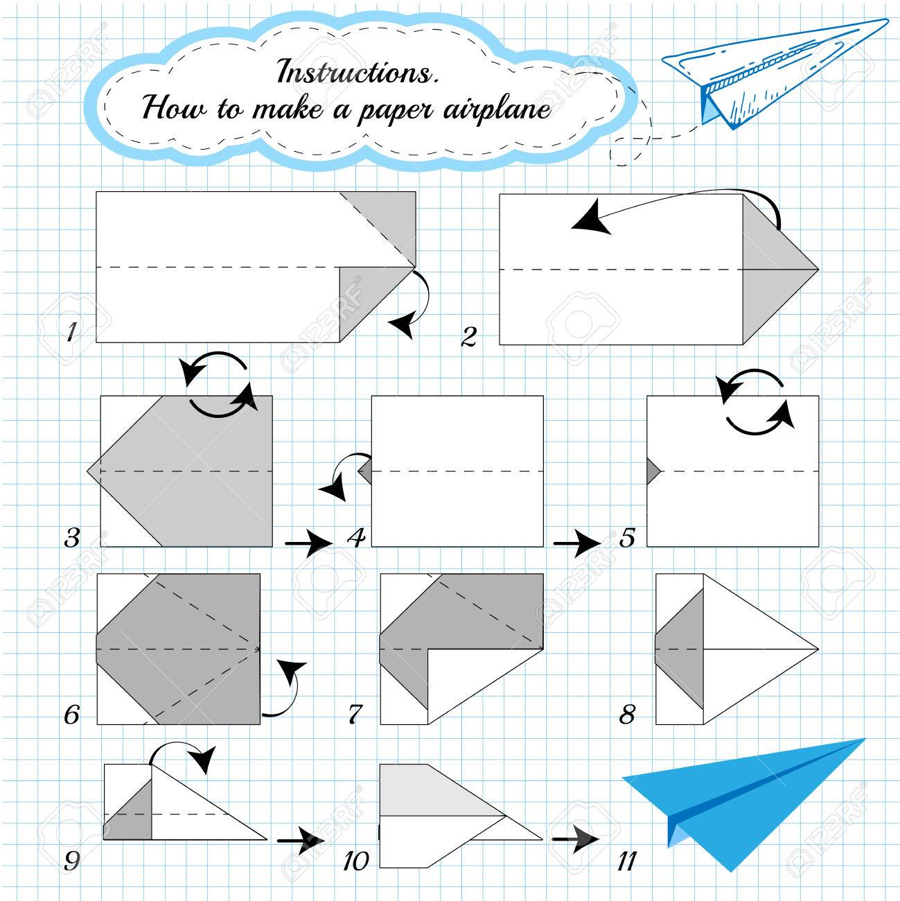 Easy paper airplane templates eliolera printable paper airplane template paper toys for kids clip art pronofoot35fo Images