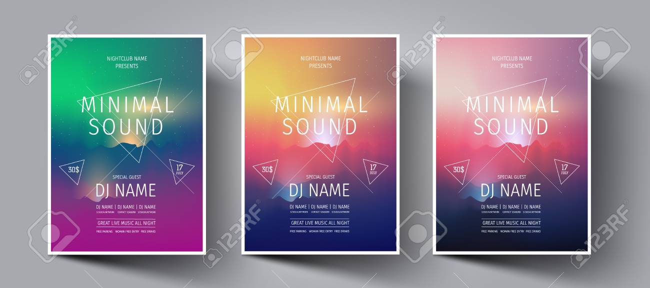 Electronic Music Fest Or Night Club Party Flyer,leaflet,banners