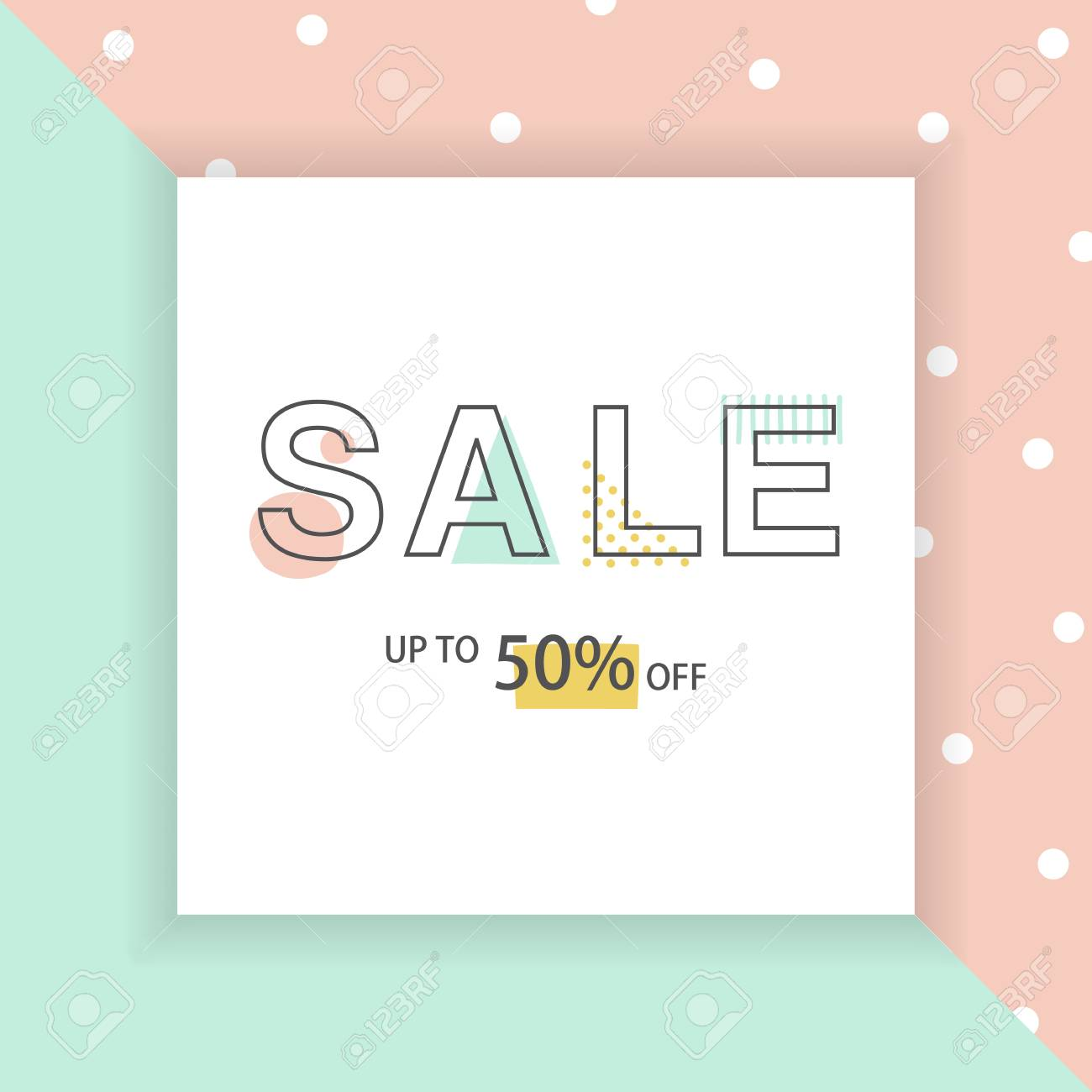 Design Online Shop Sale Banner Geometric Design For Online Shop Or Store Typeface