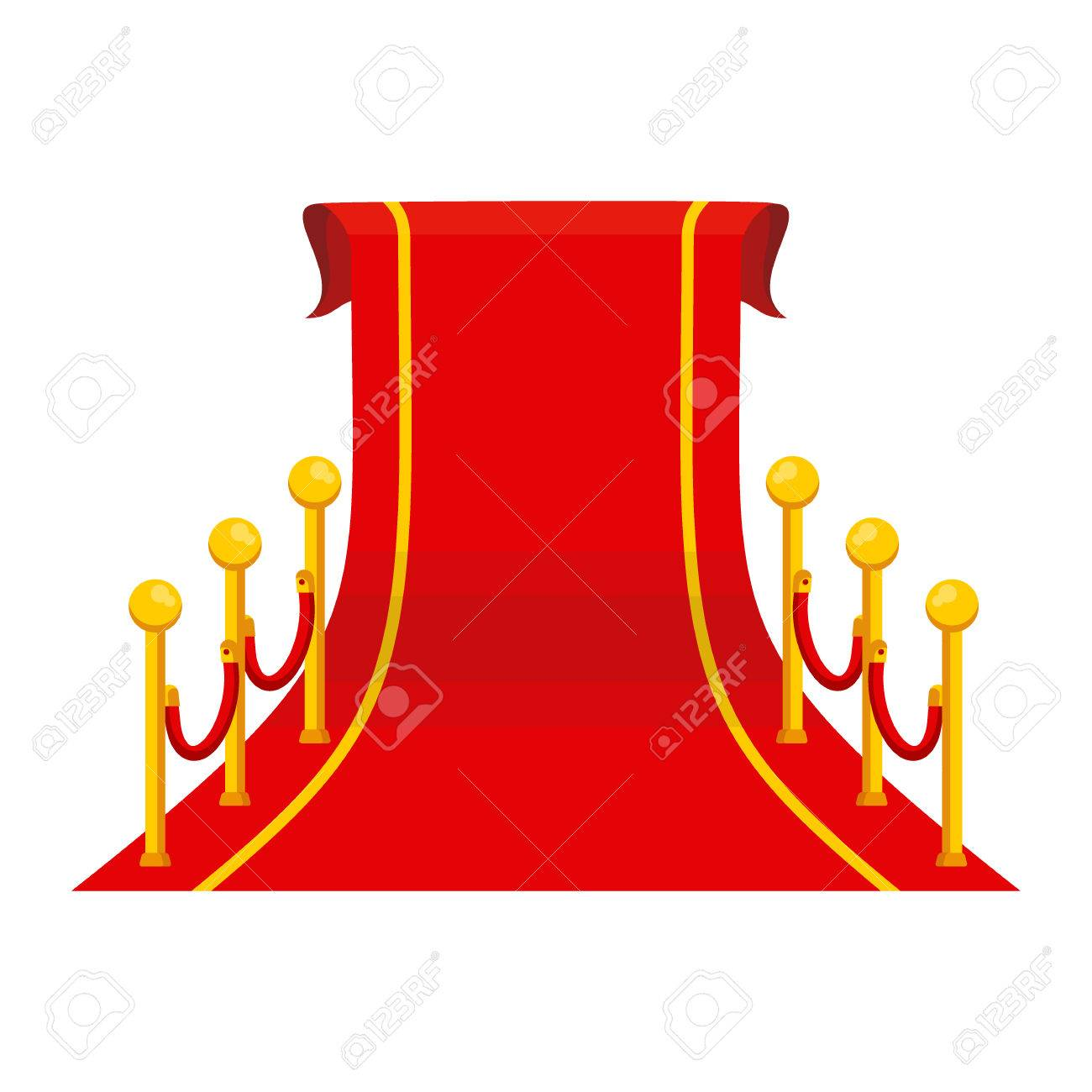 Roter Teppich Vip Red Carpet Stock Photo
