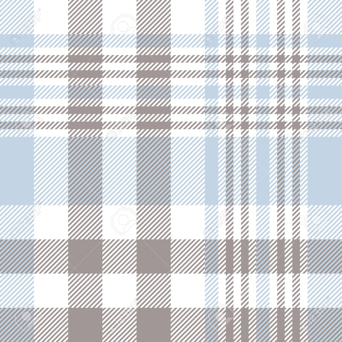 Plaid Taupe Plaid Pattern In Pale Blue Taupe Brown And White