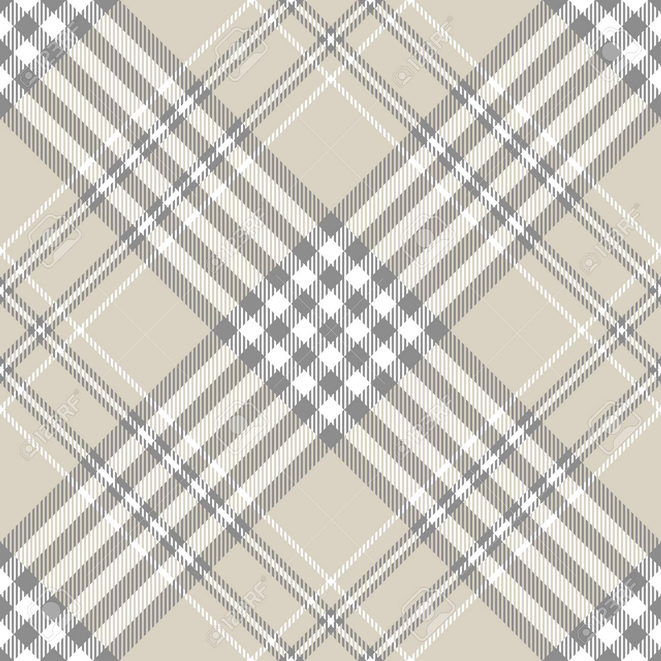 Plaid Taupe Plaid Pattern In Taupe Grey And White