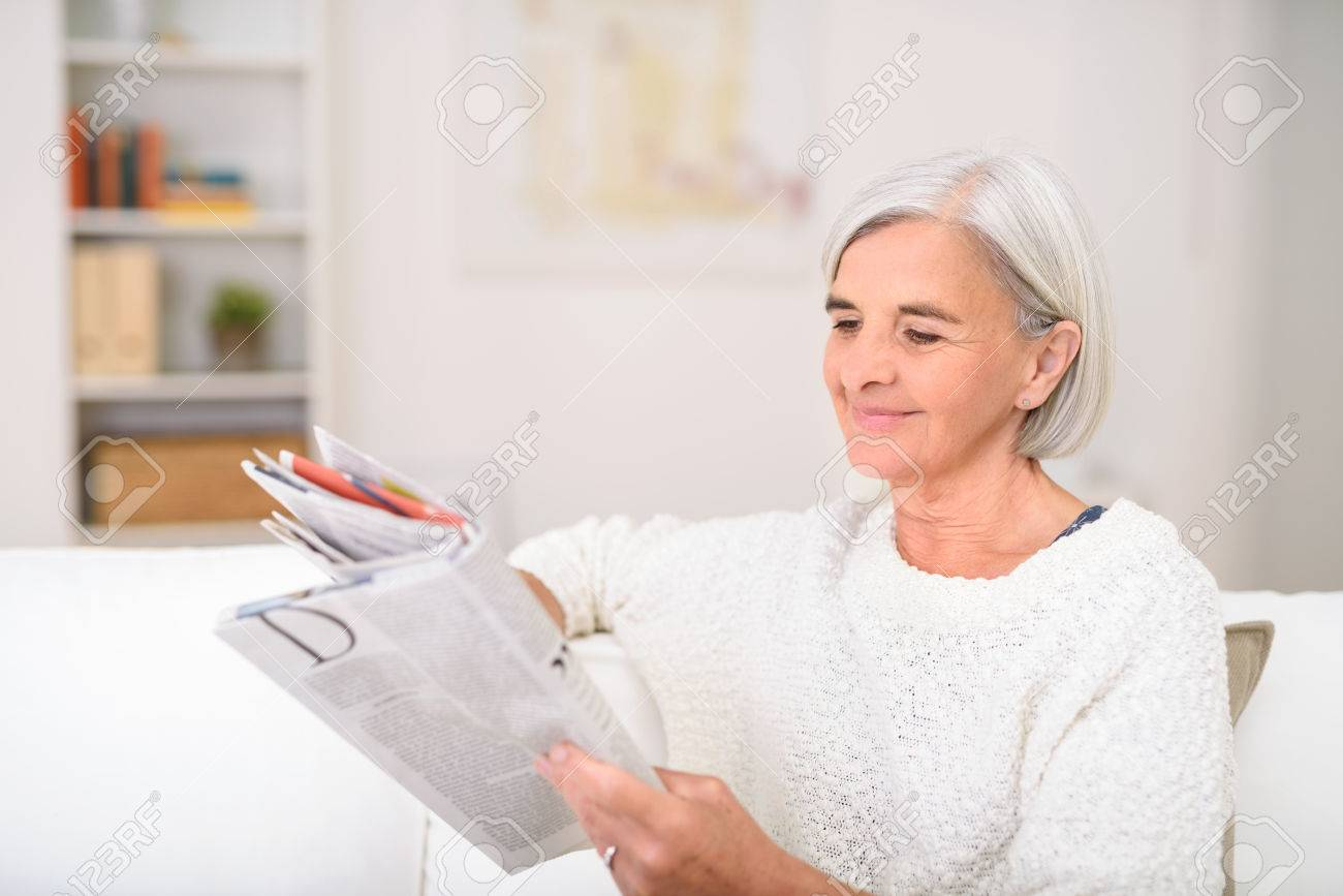 Couch Magazin Stock Photo