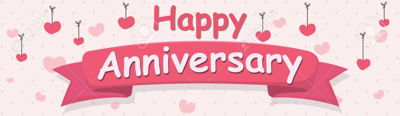Happy Anniversary Banner Royalty Free Cliparts, Vectors, And Stock