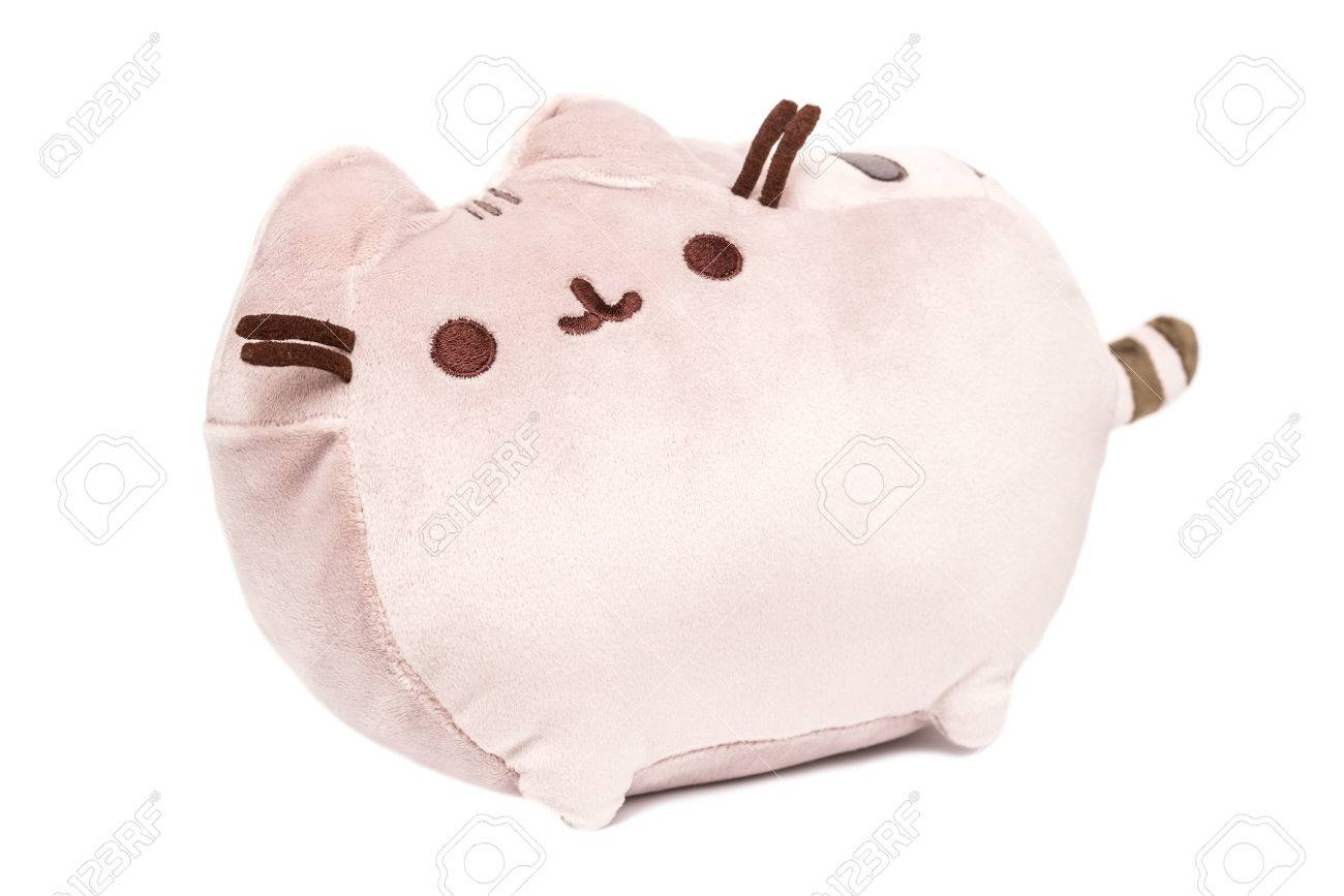 Cat Plush Toy Bucharest Romania January 18 2015 Pusheen The Cat Plush