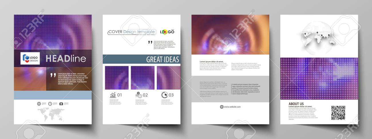 Business Templates For Brochure, Flyer, Booklet Or Annual Report