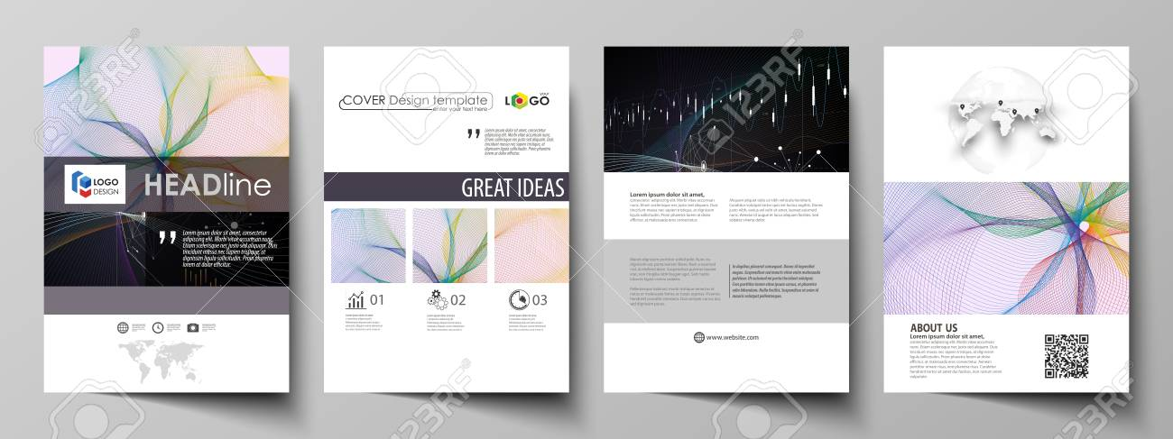 Business Templates For Brochure, Flyer, Annual Report Cover