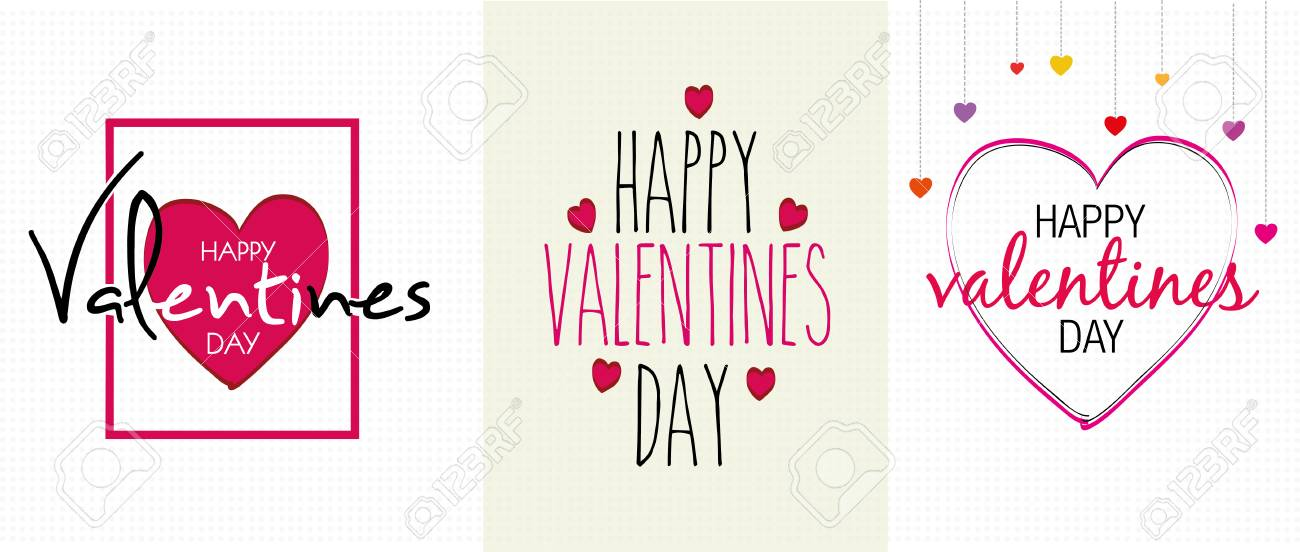Valentines Greetings Card Templates Royalty Free Cliparts, Vectors