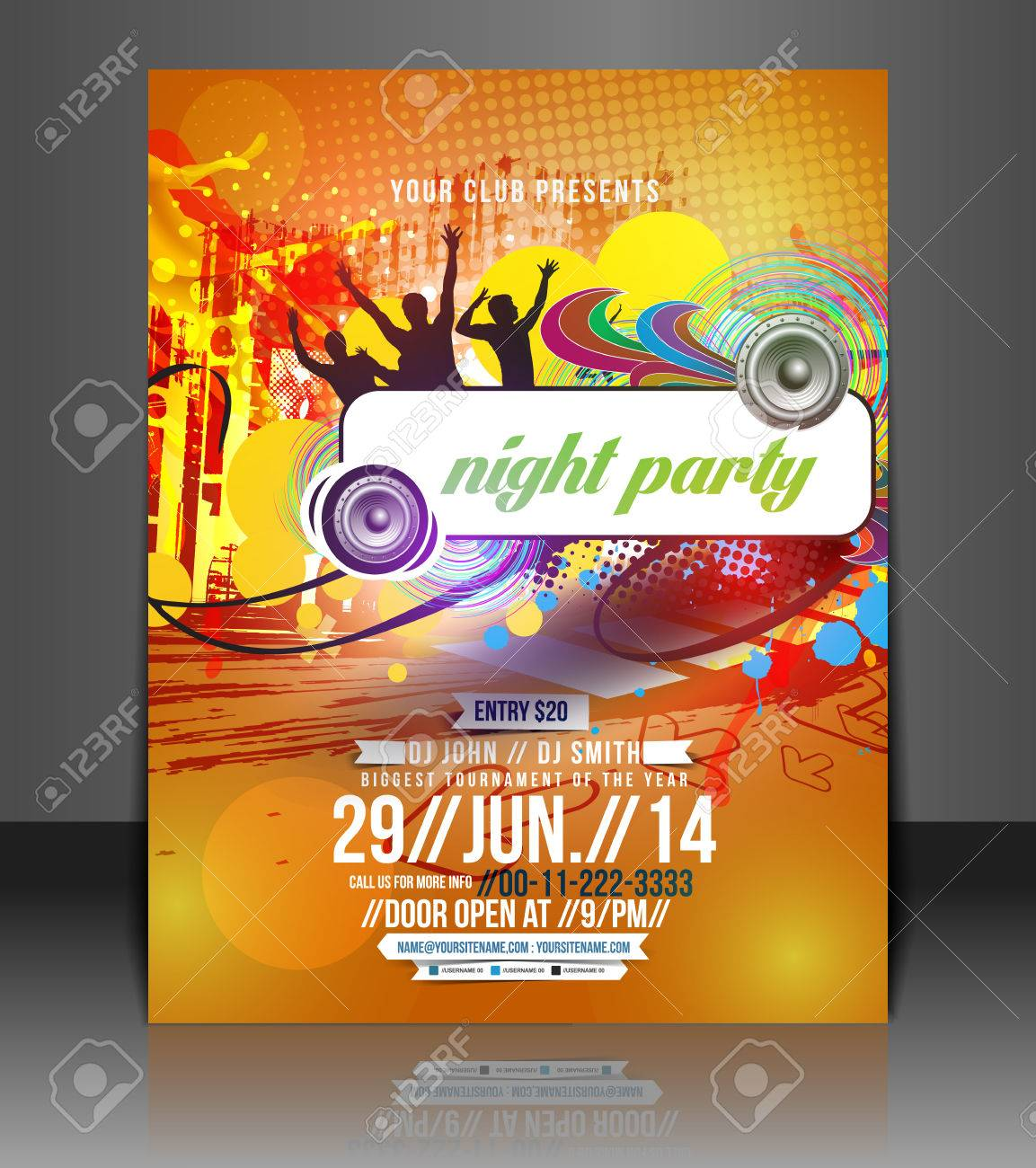 Poster design free -  Poster Template Design Royalty Free Cliparts Download