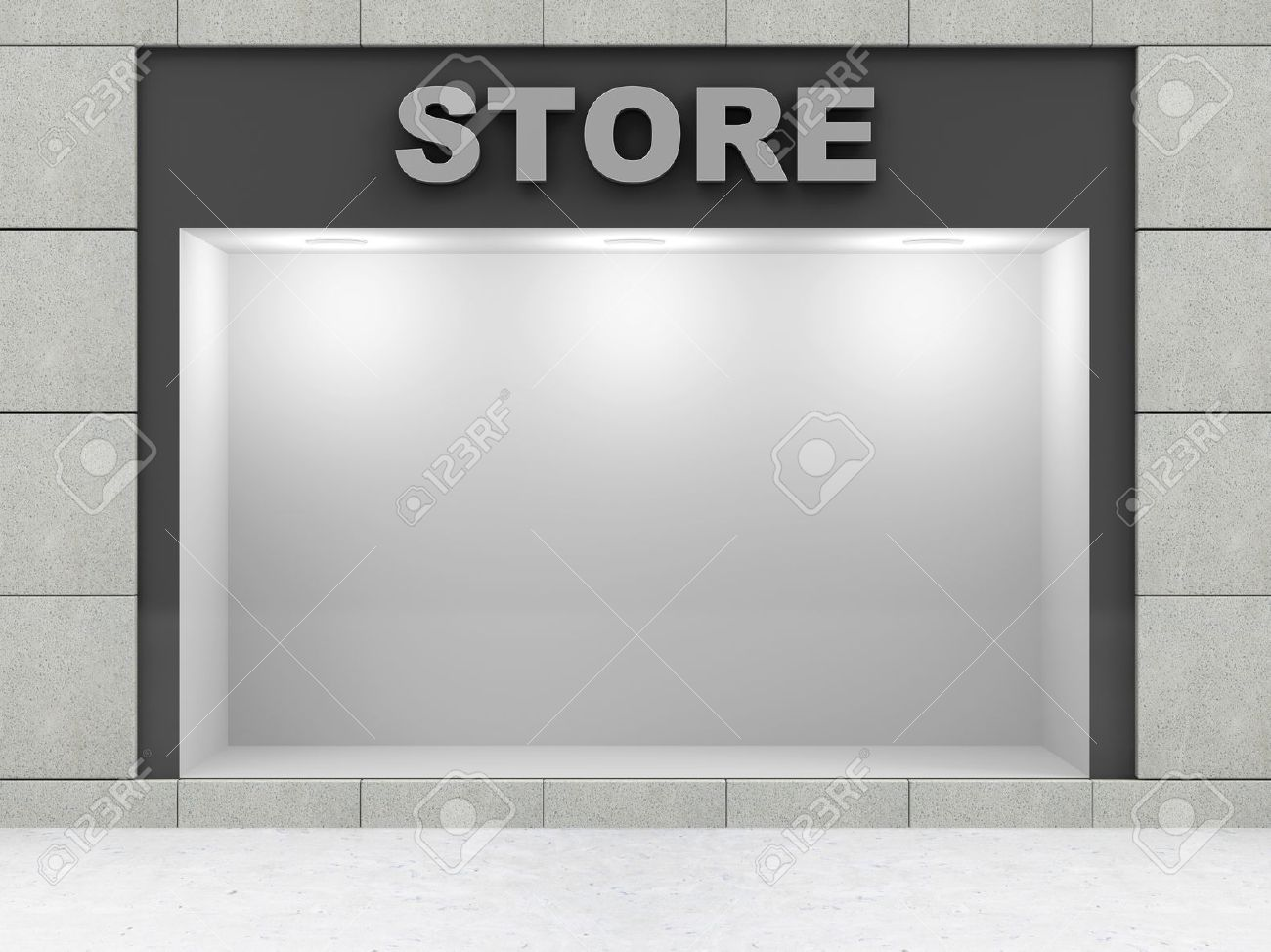 Fenster Stores Stock Photo