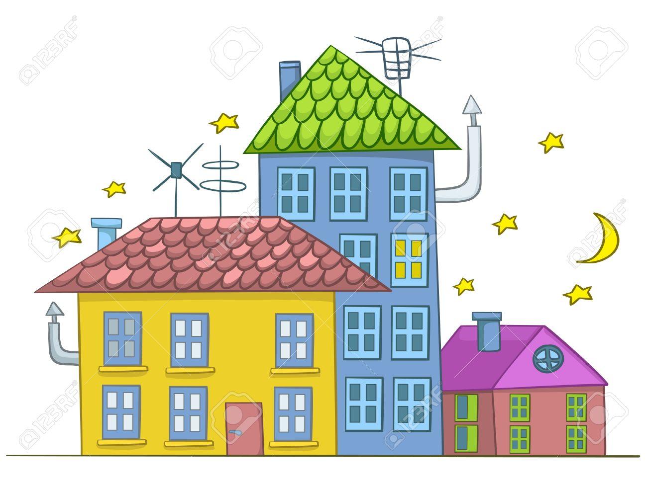 Cartoon house stock vector 12043648