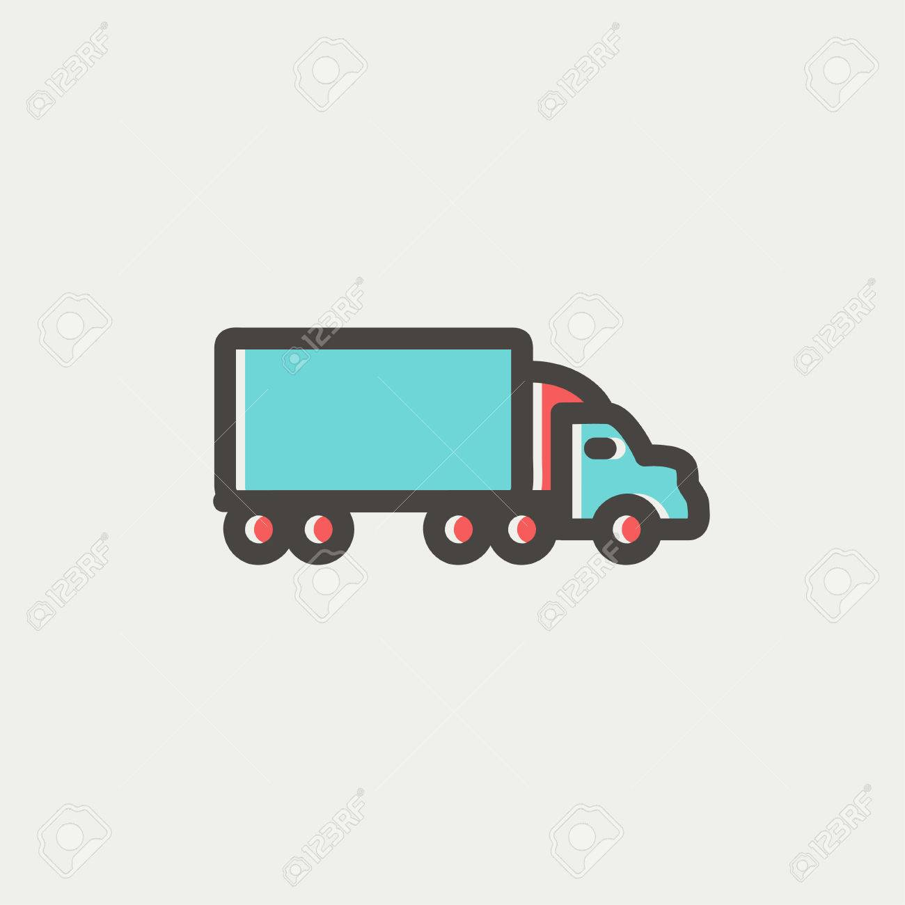 Möbel Modern Design Delivery Car Icon Thin Line For Web And Mobile Modern Minimalistic
