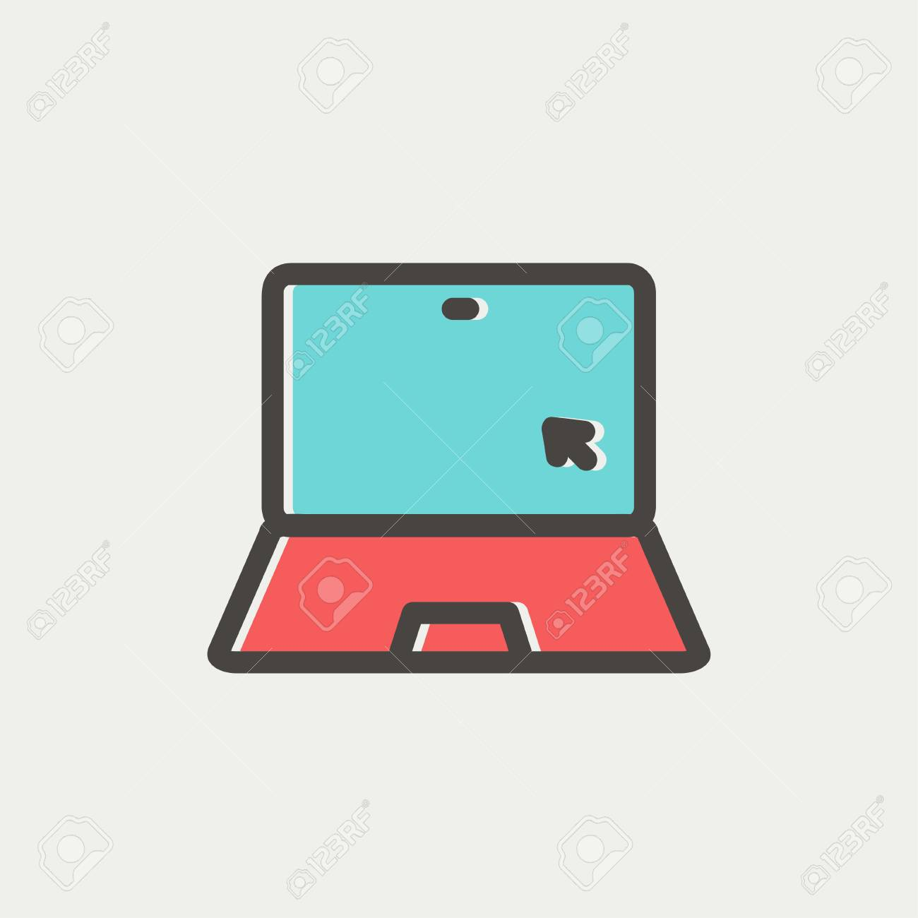 Möbel Modern Design Laptop And Cursor Icon Thin Line For Web And Mobile Modern Minimalistic