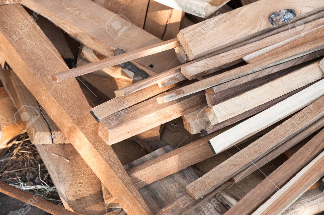 Recycle Furniture Pile Of Wood Logs For Build Furniture Production Sew Natural