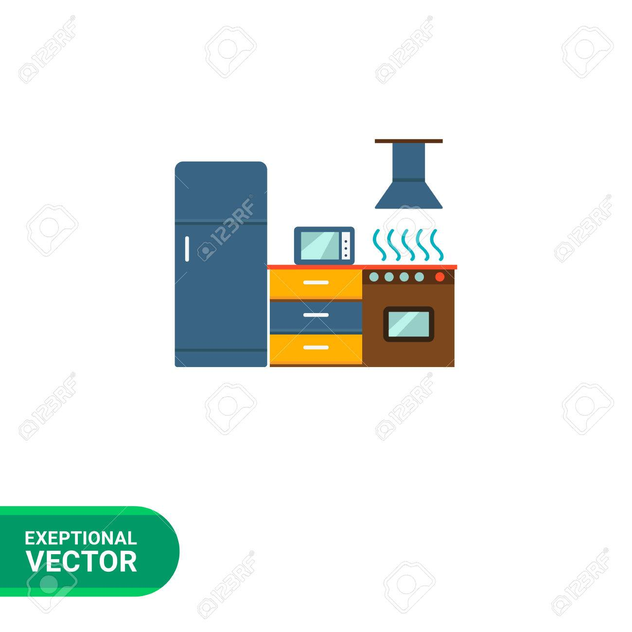 Herd Schrank Stock Photo
