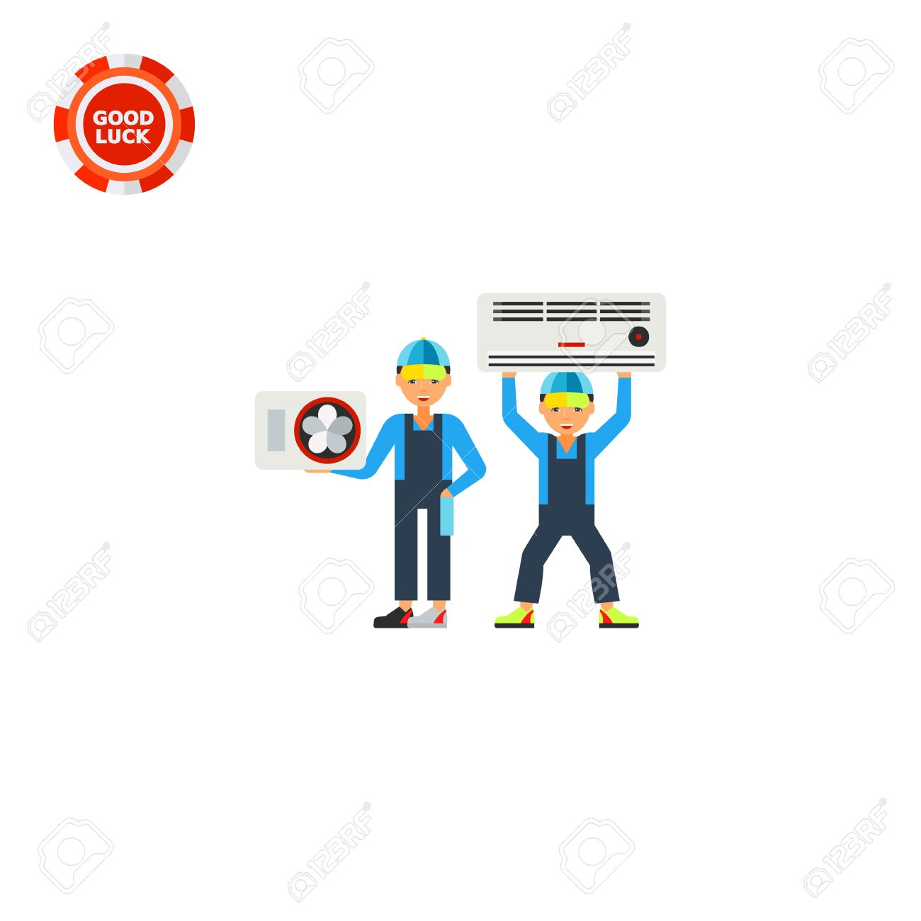Klimaanlage Installieren Stock Photo