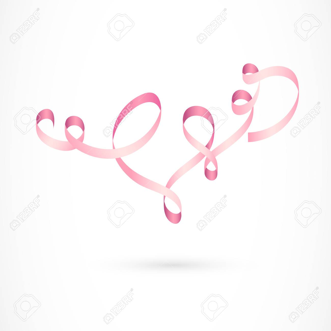 Sport Flying Tangled Pink Ribbon Decoration Sport Flying Rhythmic Gymnastics