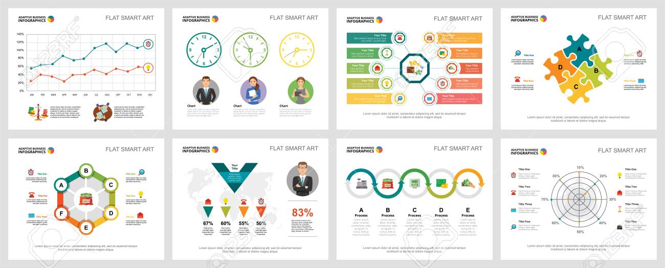 Colorful Analytics Or Consulting Concept Infographic Charts Set - Consulting Presentation Templates