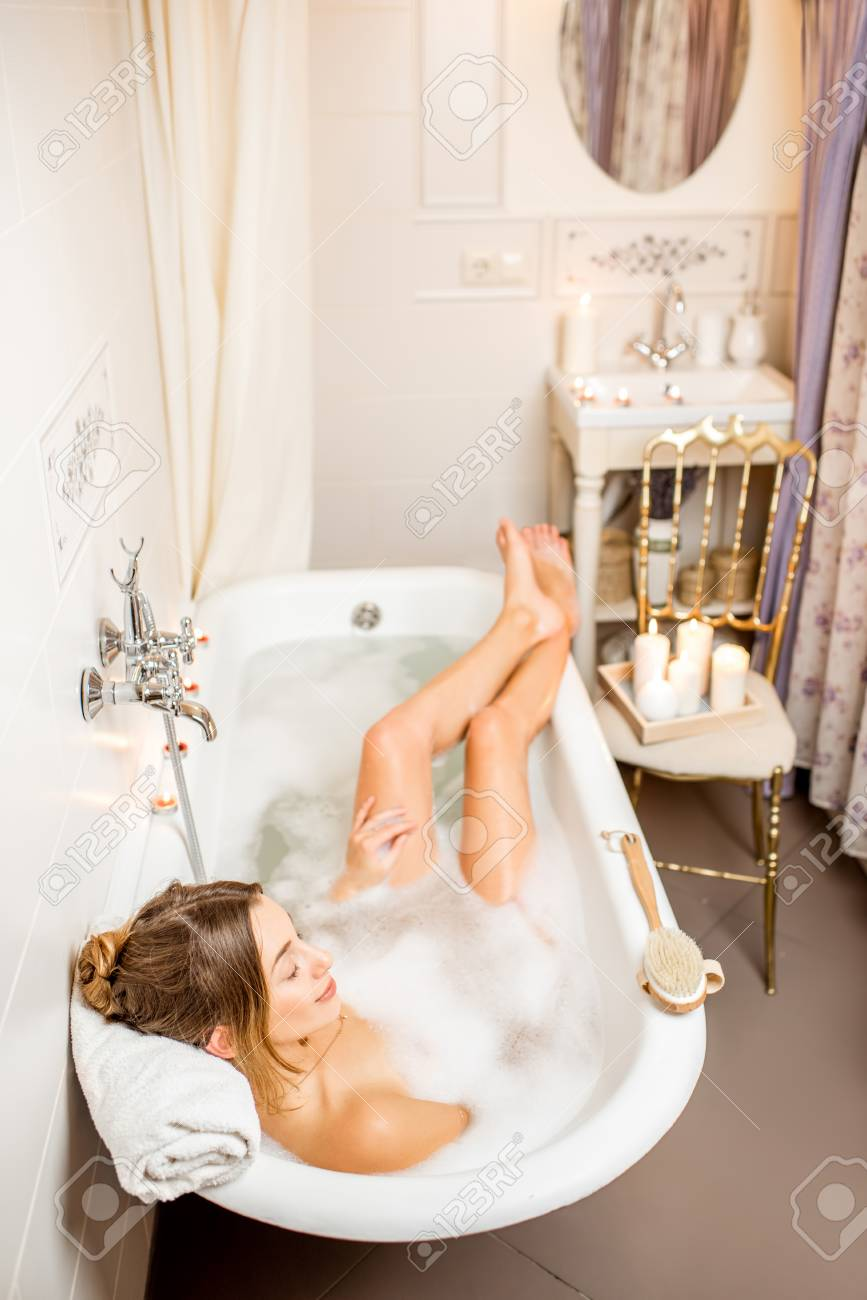 Retro Badezimmer Stock Photo