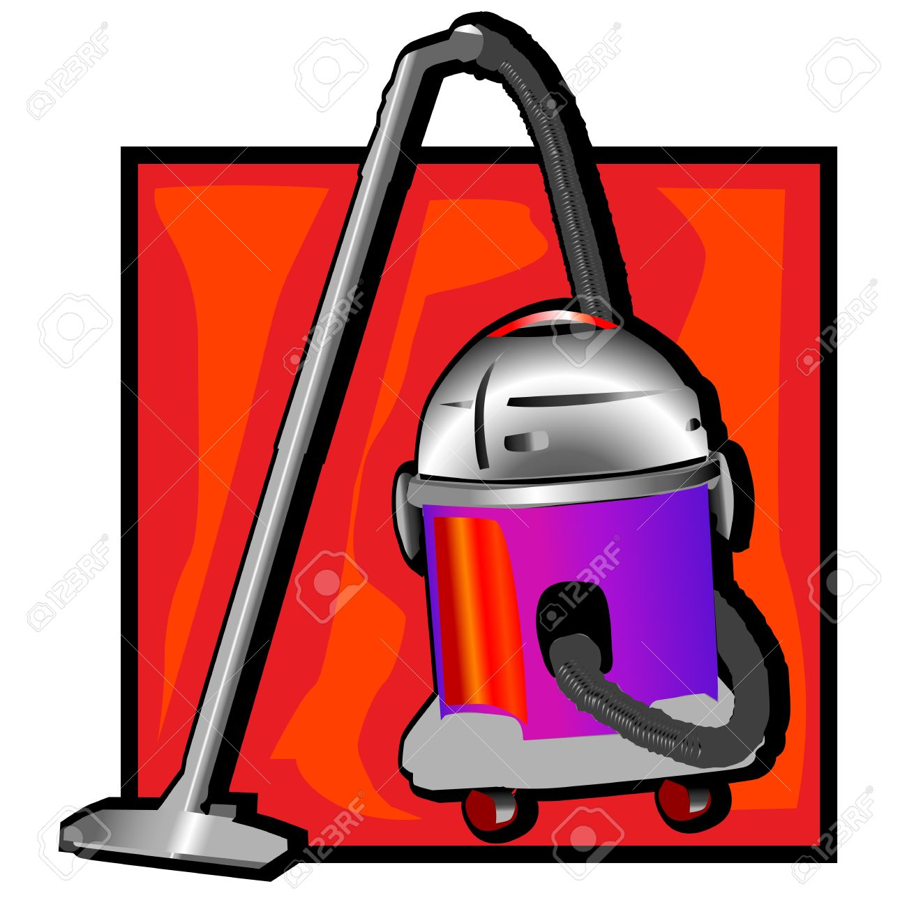Retro vacuum cleaner clip art stock vector 11970058