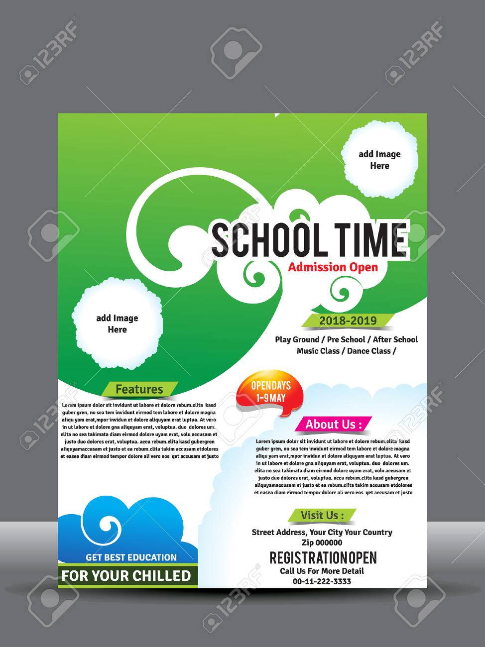 School Project Poster Design Ideas School Or Collage Flyer Or Poster Design Template Vector Illustration